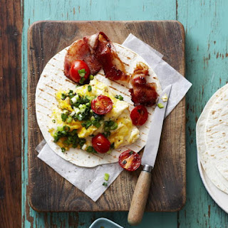 Bacon and Egg Scramble Wrap.