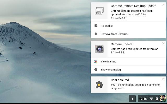 Extensions Update Notifier Screenshot