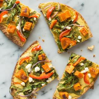 Vegetarian Tandoori Naan Pizza