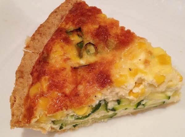 Quiche Me Quick !  Full Of Delicious Zuchinni, Corn And Green Onions !
