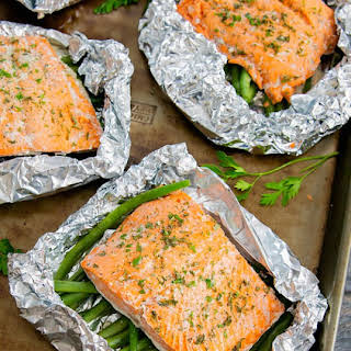 Ranch Seasoned Salmon Foil Packets.