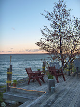 Photo: deck at sunset