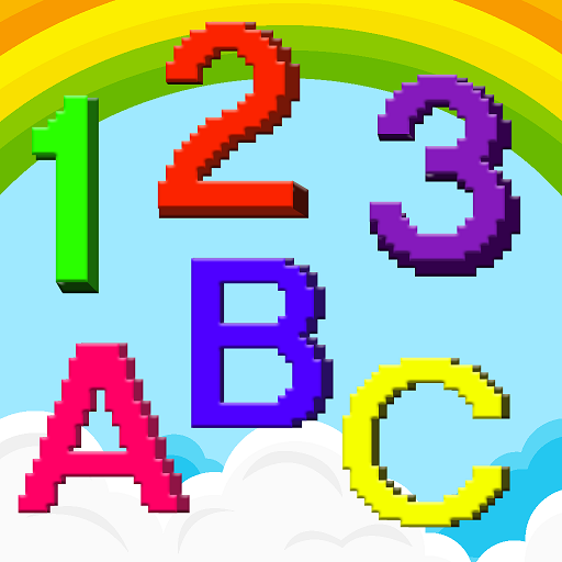 Kids 3D Learn Color by Number : Voxel, Pixel Art Icon