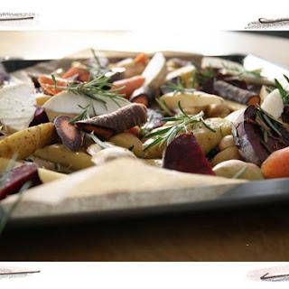 On Peeling Potatoes (+ Roasted Potatoes and Beetroot Recipe)