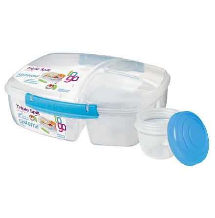 Triple Split To Go med yoghurtbehållare Sistema