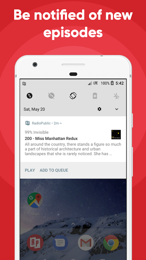 RadioPublic: Free Podcast App For Android- screenshot