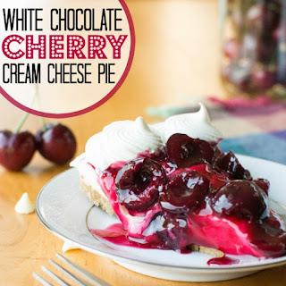 Cherry White Chocolate Cream Cheese Pie