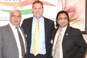 Photo: (L to R) Kam Rathee, Hon. John Baird, and Husain Neemuchwala  http://canadaindiaeducation.com/introduction/media-outreach