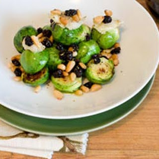 Brussels Sprouts With Roasted Garlic And Pinenuts