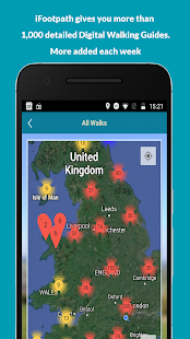 iFootpath - UK Walking Guides with GPS Map- screenshot thumbnail