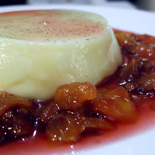 White Chocolate Panna Cotta with Tamarillo Compote