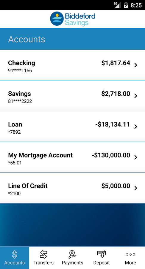 Biddeford Savings Mobile- screenshot