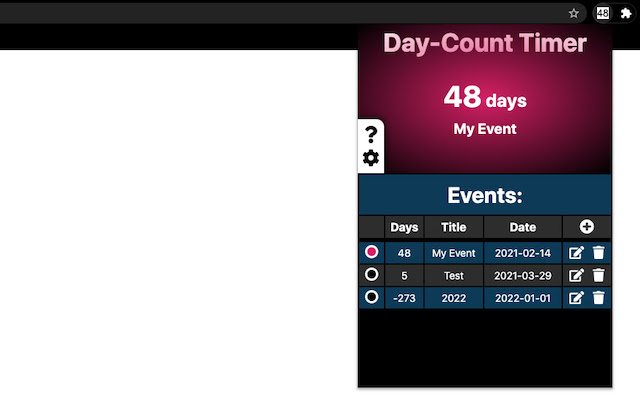 Day-Count Timer Extension