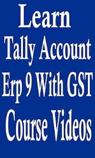 Learning Tally Account Erp9 With GST Course Videos - náhled