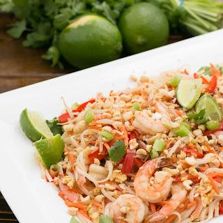 Shrimp Pad Thai Noodles.
