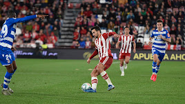 Juan Muñoz en el partido contra el Deportivo.