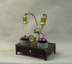 Photo: Dual steampunk plasma lamp