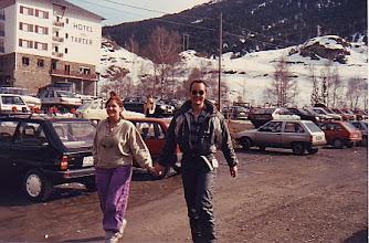 Photo: Menchu y yo en El Tarter( Andorra)(1988)