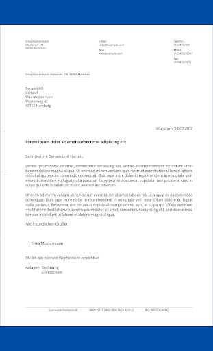 Briefe schreiben u2013 PDF zum Versenden oder Drucken 1.2.1 screenshots 4