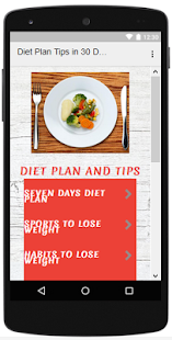 Diet Plan Tips in 30 Days - náhled