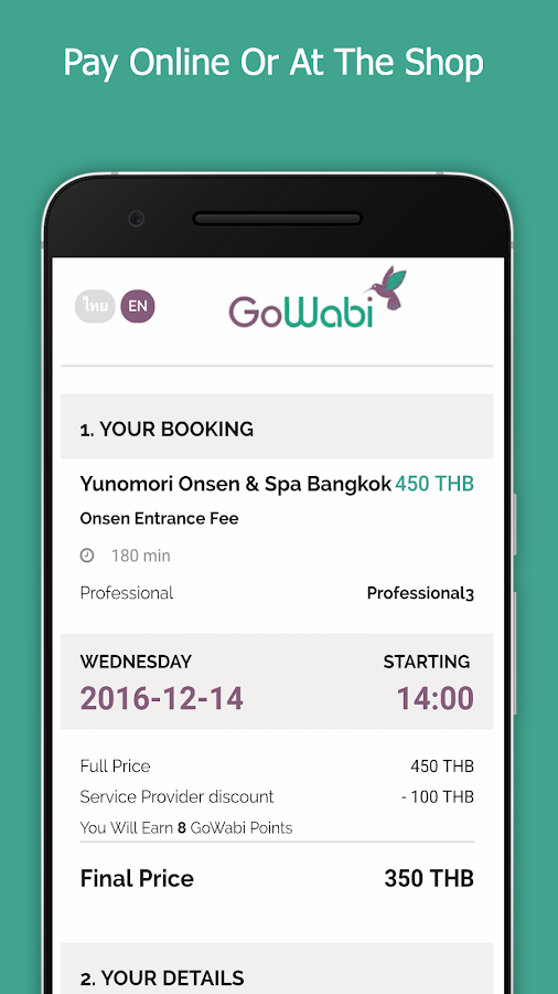 GoWabi - Beauty Booking App- screenshot