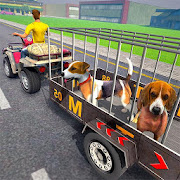ATV Bike Dog Transporter Cart Driving: Dog Games