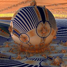 The Fairgrounds; Mandelbulb Style by Rick Eskridge - Illustration Places ( fairgrounds, places, mb3d, fractal, twisted brush )