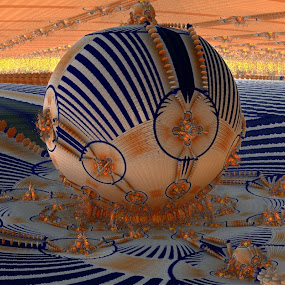 The Fairgrounds; Mandelbulb Style by Rick Eskridge - Illustration Places ( fairgrounds, places, mb3d, fractal, twisted brush )
