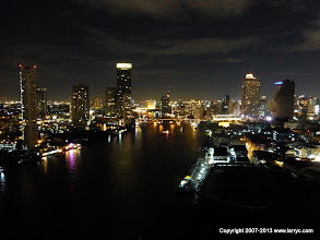 Photo: Night view from our hotel.
