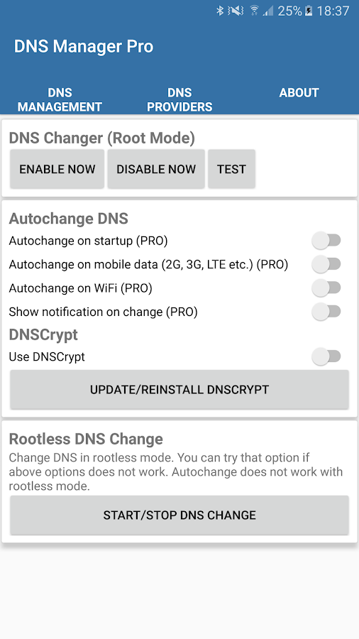 DNS Manager Pro - No root, 4G- screenshot