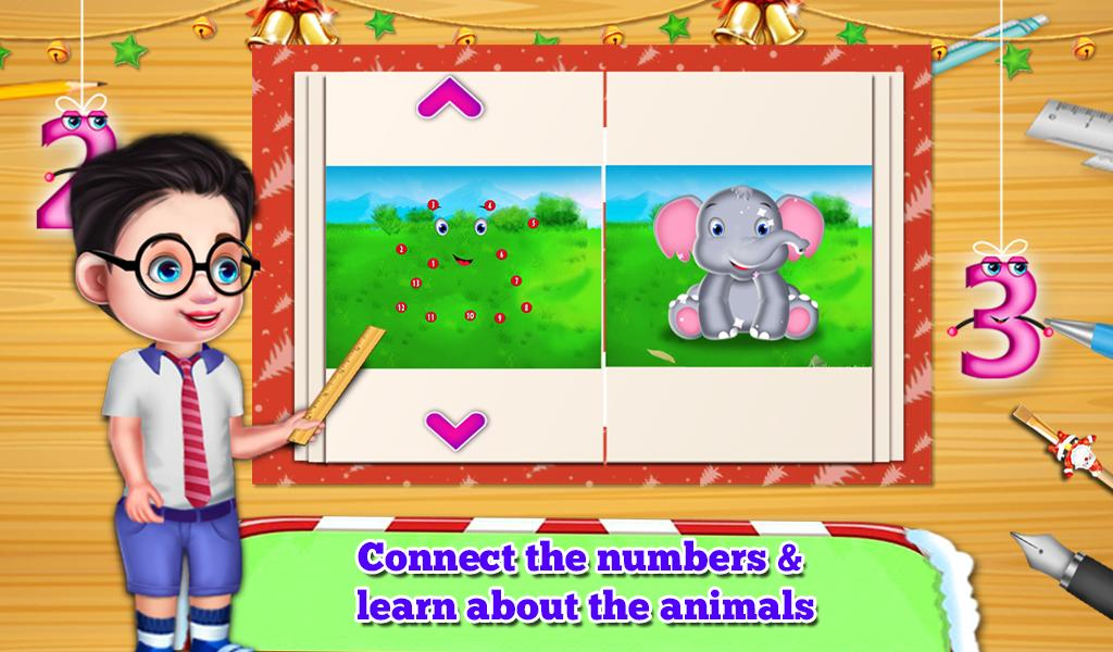 Connect The Dots: Christmas Educational Kids Game- screenshot