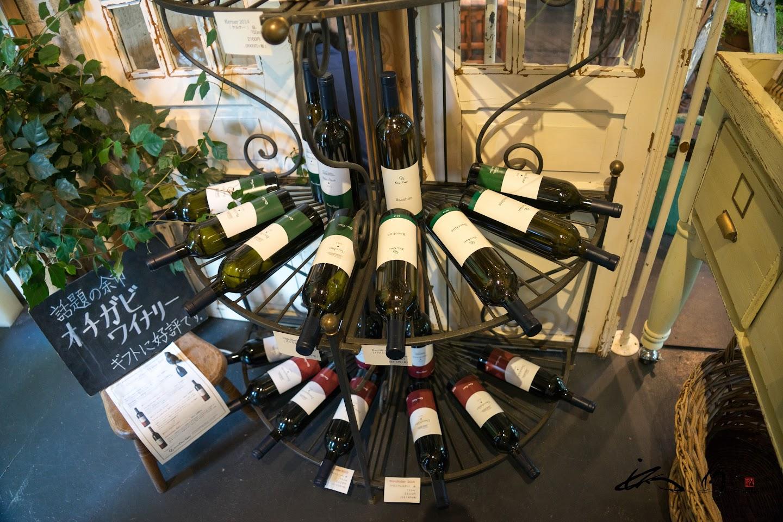 オチガビワインがずらり!