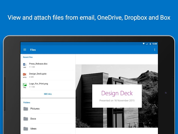 Screenshot 19 for Outlook Mail's Android app'