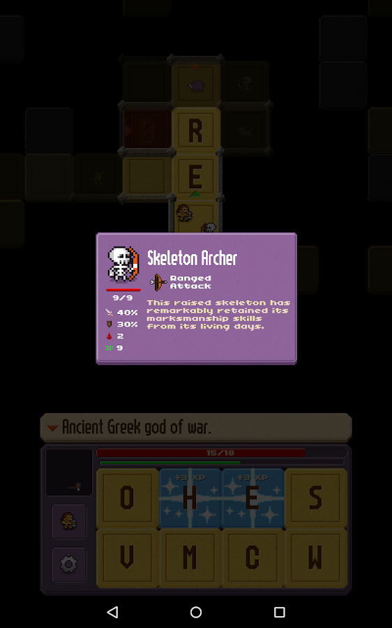 Crossword Dungeon- screenshot