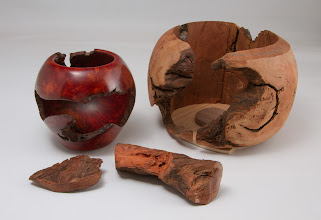 Photo: Bill Long - Manzanita root burl bowl outside it's shell