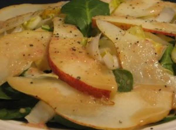 Ww Spinach- Pear Salad With Orange Dressing
