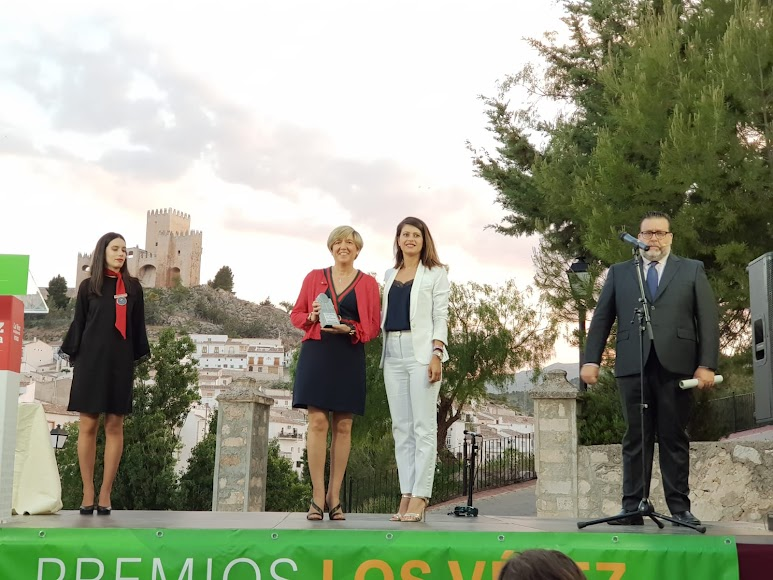 Mª del Carmen Galera, directora de la Fundación Tecnova, ha recogido el Premio Gente.