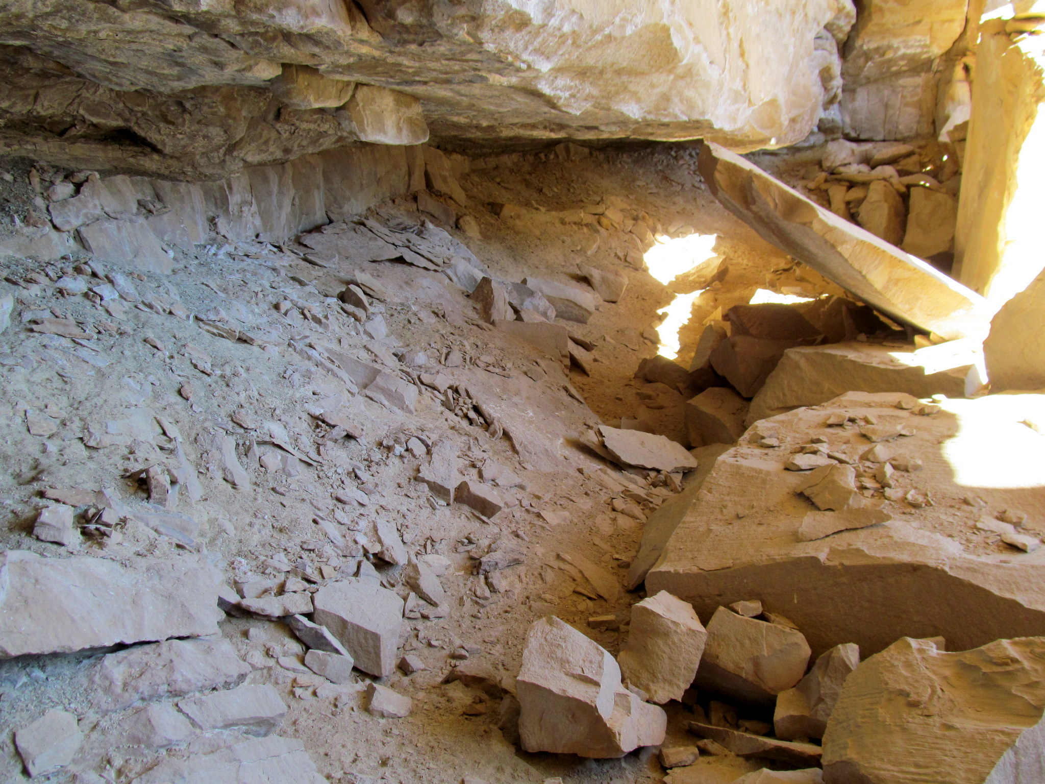Photo: Inside the cave/alcove