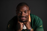 Makazole Mapimpi of South Africa poses for a portrait during the South Africa Rugby World Cup 2019 squad photo call on September 15, 2019 in Tokyo, Japan.