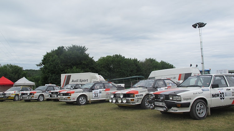 A number of iconic Audi rally cars. MARK SMYTH