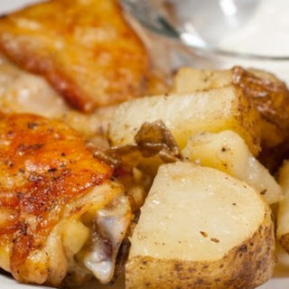 Garlic Roasted Chicken and Potatoes.