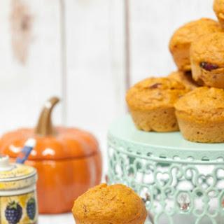 Healthy Pumpkin Cranberry Muffins.