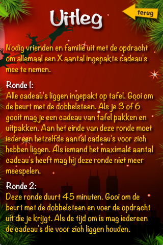 Kerst Dobbelspel- screenshot