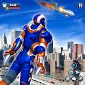 Flying Robot Superhero Crime City Rescue Battle icon