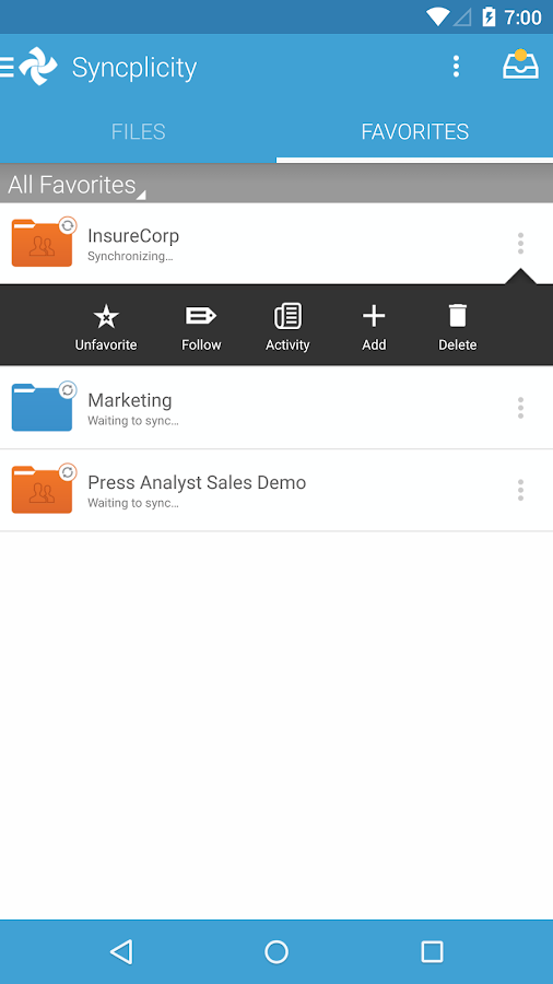 Syncplicity- screenshot