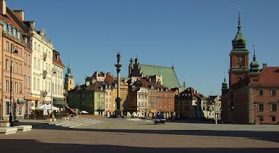 Photo: Poznávání Varšavy - virtuální prohlídka. Náměstí Plac Zamkowy v centru Varšavy.