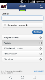 AMHFCU MobileTeller- screenshot thumbnail