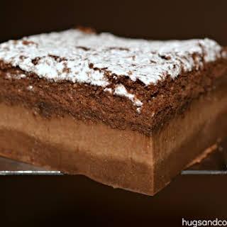 Chocolate Magic Custard Cakes.