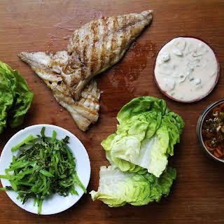 Fish Ssäm with Spicy Chile Sauce.