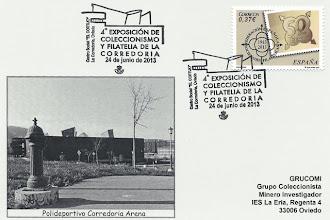 Photo: Tarjeta del matasellos del Corredoria Arena de ACOCOR en junio de 2013